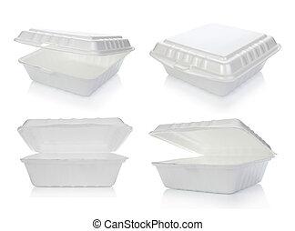 récipient nourriture, styrofoam