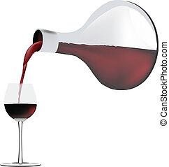 récipient, vin