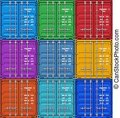 récipients cargaison, couleur