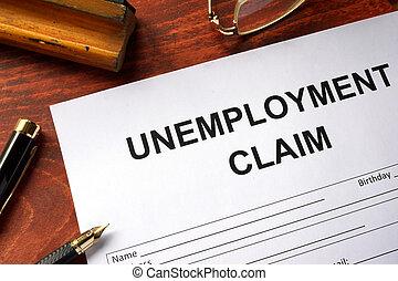 réclamation, formulaire, chômage