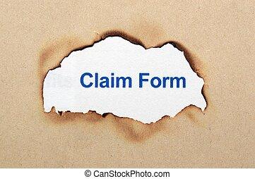 réclamation, formulaire