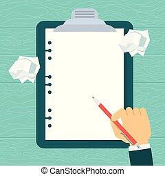 réclamation, formulaire, vide