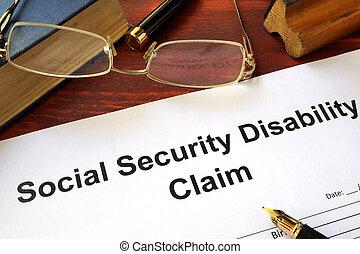 réclamation, sécurité, incapacité, social