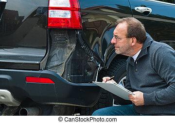 réclamation, voiture., assurance, voiture