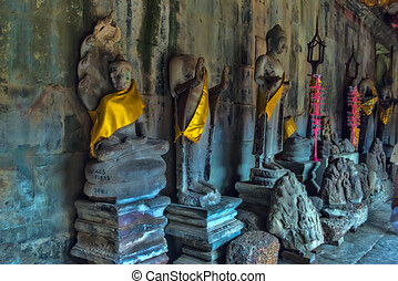 récolter, angkor, cambodge, siem, temple, wat