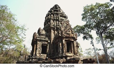 récolter, angkor, temple., cambodia., siem, ruines, wat