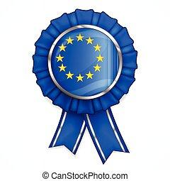 récompense, européen, ruban
