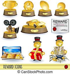 récompense, icônes