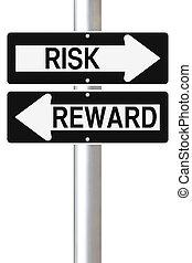 récompense, risque