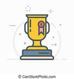 récompense, trophée, illustration