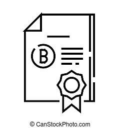 récompenses, contour, ligne, vecteur, signe, illustration, linéaire, symbole., concept, icône, business