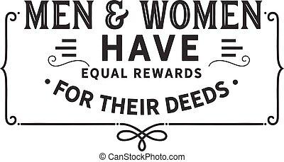 récompenses, leur, égal, deeds
