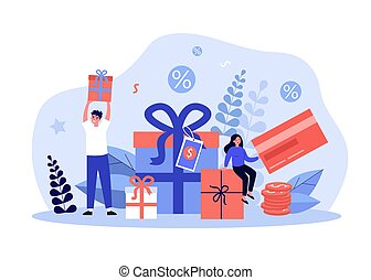 récompenses, obtenir, dons, clients, achats