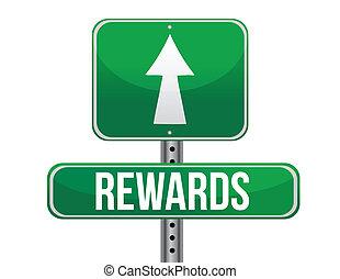 récompenses, signe route