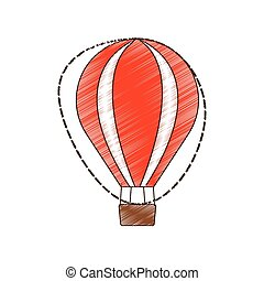 récréation, airballoon, voyage, vacances, dessin