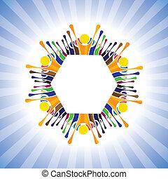 récréation, -, amusement, vecteur, avoir, graphique, simple, gosses, école