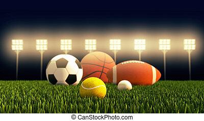 récréation, balle, equipment., loisir, sports, sports.