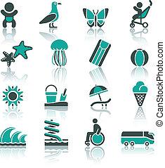 récréation, ensemble, tourisme, vacances, &