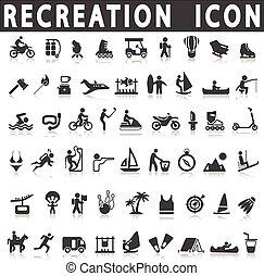 récréation, icônes