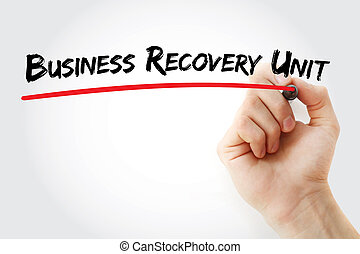 récupération, business, acronyme, bru, -, unité