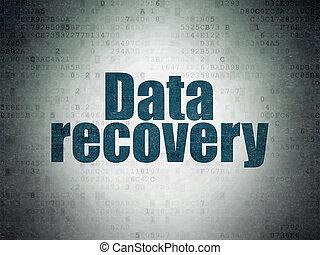 récupération, papier, fond, numérique, données, concept: