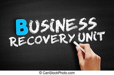 récupération, tableau noir, texte, business, unité