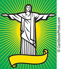 rédempteur, christ, statue