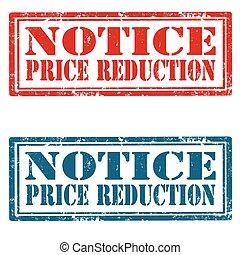 réduction, notice-price
