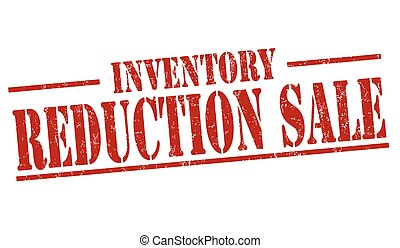 réduction, vente, ou, signe, timbre, inventaire