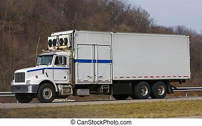 réfrigération, camion