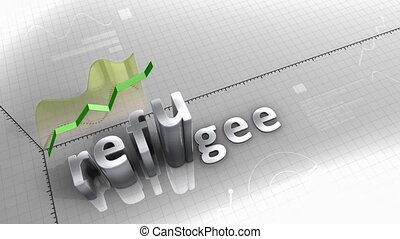 """réfugié, statistique, diagramme, crise, data."""", """"growing"""