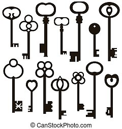 régimódi kulcs, gyűjtés