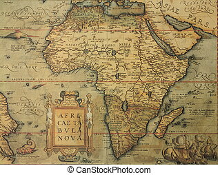 régimódi térkép, afrika