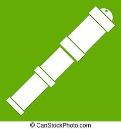 régimódi telescope, ikon, zöld