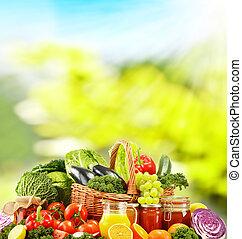 régime équilibré, basé, sur, cru, organique, légumes