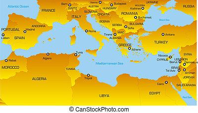 région, méditerranéen