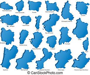 régions, francais