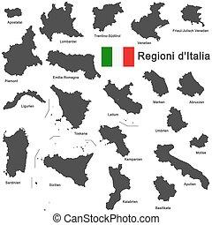 régions, italia