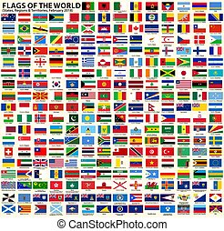 régions, territoires, drapeaux, souverain, etats