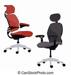 réglable, ergonomique, bureau, fauteuil, chaise, meubles