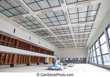 rénovation, bibliothèque