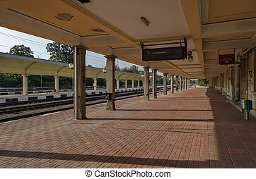rénover, vieux, gare