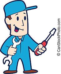 réparateur, dessin animé