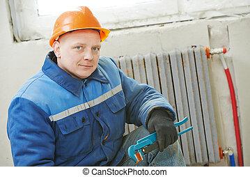 réparateur, ingénieur chauffage