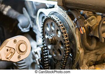 réparation auto, shop.