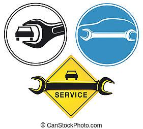 réparation auto, signe
