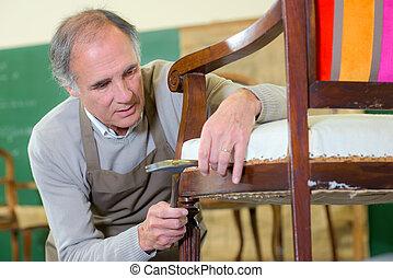 réparation, chaise