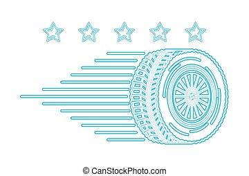 réparation, emblème, entretien, service, auto, étoiles