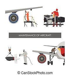 réparation, entretien, aircraft.
