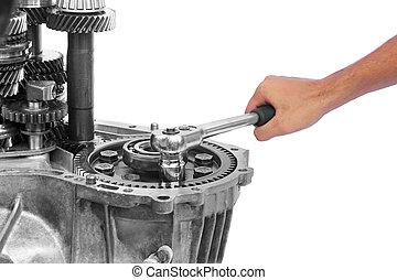réparation, gearbox